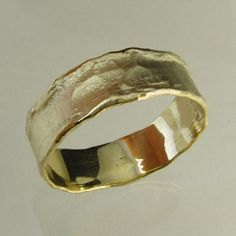 gold ringRecycled gold Wedding Band Man Wedding Band by Avinoo, $200.00