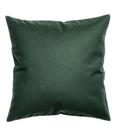 Light teal. Cushion cover in cotton canvas with concealed zip. Size 20 x 20 in.