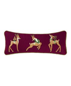 Love this Merry & Bright Deer Pillow on #zulily! #zulilyfinds