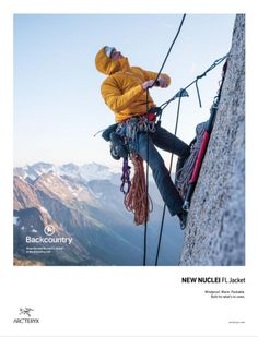 Arc'teryx is a high performance outdoor equipment company known for leading innovations in climbing, skiing and alpine technologies