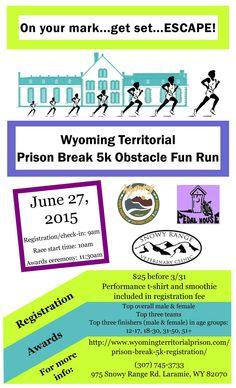 Flyer for the Prison Break 5K coming June 2015!