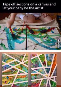 Amazing idea Baby art