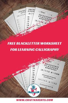 A free printable calligraphy worksheet for the Blackletter (Gothic) Script - craftknights Calligraphy Worksheet, Learn Calligraphy, Calligraphy Alphabet, Caligraphy, Knitting Projects, Crochet Projects, Knitting Patterns, Gothic Script, Knitting For Beginners