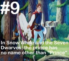 Cool Disney Facts Exactly! So stop calling him Prince Charming!!! That's Cinderella's prince's name!