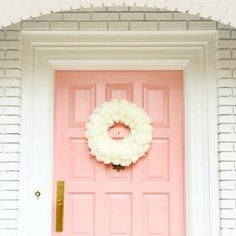 Elsie Larson's fabulous pink front door, I had to share! How fun is this color? Retro Interior, Home Decor Inspiration, Decor, Front Door Colors, Store Decor, Front Door Decor, Pink, Door Decorations, Pink Door