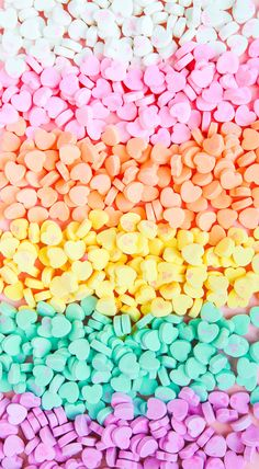 Cute Food Wallpaper, Rainbow Wallpaper, Heart Wallpaper, Iphone Background Wallpaper, Colorful Wallpaper, Galaxy Wallpaper, Screen Wallpaper, Pastel Candy, Colorful Candy