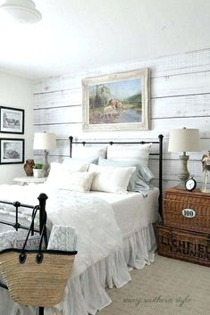 The style of the farmhouse is one of the sweetest and most interesting as traditionalism that makes the space in your home very comfortable, Want to know how to make a bedroom like that? Find ideas and inspiration bedroom designs from various countries, including colors, decorations and themes. Farmhouse bedroom furniture and lighting ideas can help you to experiment and implement in a manner consistent with your unique style. #farmhousebedroomfurniture #farmhousebedroomlighting