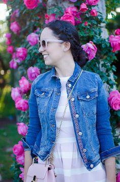 Cómo combinar un vestido de rayas rosas y blancas en tu look de primavera : MartaBarcelonaStyle's Blog