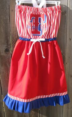 Texas Ranger Gameday Dress by duds4divas on Etsy, $40.00-SO CUTE!