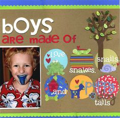 10 Layout Ideas: All About a Boy - Scrapbook.com
