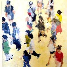 """Saatchi Art Artist Hervé CARRIOU; Painting, """"Foule 2"""" #art"""