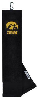 Team Effort NCAA Face/Club Embroidered Golf Towel - University of Iowa