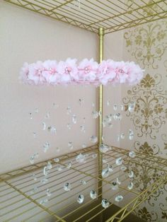Crystal Baby Mobile Pink Baby Mobile Flower Baby by TheMobileMaven, $90.00