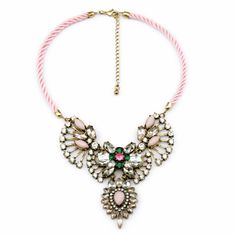 2014 Hot-selling New Fashion Jewelry  Fashion Crystal Shourouk Necklaces Hand-made Shourouk Necklace Wholesale Free Shipping $10.88