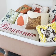 Savannah Shops: Lovelane Designs - Guide to Shopping in Savannah - Southern Living Cute Pillows, Bed Pillows, Home Furnishing Stores, Pillow Fight, Savannah Chat, Savannah Smiles, Do It Yourself Projects, Animal Pillows, Southern Living