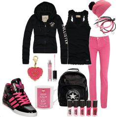 Fashion for Teens Look #3 give me the pink or black veil!!