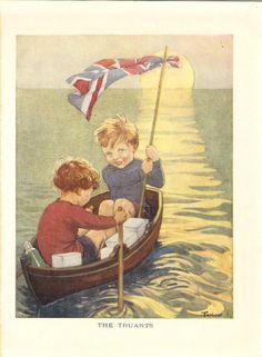 Artworks Children English Nursery Rhymes Digital Drawing Art Book Row Row Row Your Boat