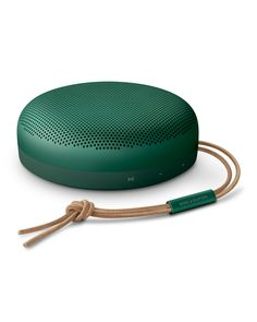 Bang & Olufsen BeoPlay A1 2nd Generation Speaker, Green | Neiman Marcus Nice Gifts, Best Gifts, Bang And Olufsen, Neiman Marcus, Bangs, Mini, Green, Leather, Fringes