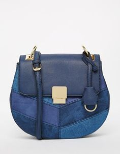 ALDO Saddle Bag in Navy Denim With Hardwear Detail at ASOS. Shop this season's must haves with multiple delivery and return options (Ts&Cs apply). Bags Online Shopping, Online Bags, Shopping Bag, Aldo Handbags, Luxury Handbags, Leather Handbags, Latest Shoes, New Shoes, Chanel Tote