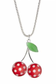 Glamour Bunny - Cherry Dot necklace silver