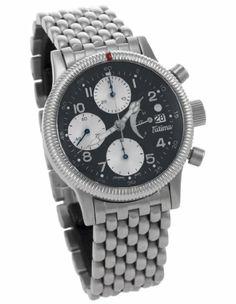 Tutima Glashutte/Sa Fliegerchronograph F2 Power Reserve Automatic Men's Luxury Watch 780-84