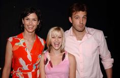 Bridget Moynahan, Reese Witherspoon & Ben Affleck at the 2002 MTV Movie Awards held at The Shrine Auditorium in Los Angeles California United States (June 1, 2002)
