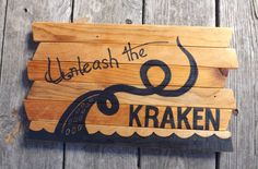 Kraken+Pirate+Davy+Jones+Locker+painting+on+by+MookieWoodArt