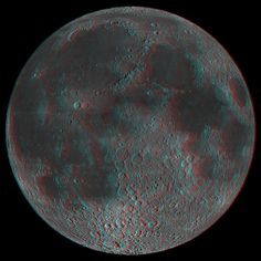 3D Moon! by NASA Goddard Photo and Video on Flickr.A través de Flickr: This is an anaglyph of an Lunar Reconnaissance Orbiter Camera (LROC) ...