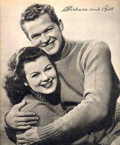 Barbara Hale and husband Bill Williams, aka William Katt, Sr.