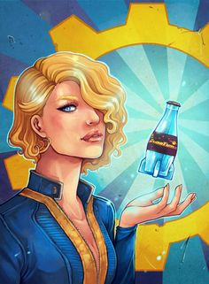 AVIONETCA ART — I wanted draw my own Fallout poster for a long...