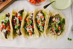 These grilled skirt steak tacos are exactly what you need for Taco Tuesday! Make them a little extra special with homemade cilantro lime sour cream. Skirt Steak Tacos, Grilled Skirt Steak, Small Food Processor, Food Processor Recipes, Lime Sour, Skirt Steak Recipes, Sour Cream Sauce, Mexican Food Recipes, Ethnic Recipes