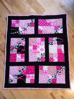 Baby Girl Quilt by ashryla on Etsy, $65.00 Cute!