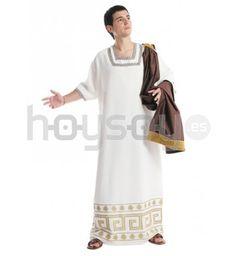 #Disfraz de aristócrata #romano. Compuesto por túnica y toga. Fabricado en España #Disfraces #Carnaval