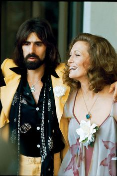 Faye Dunaway and Peter Wolf, 1974