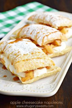 Caramel Apple Cheesecake Napoleons: a delicious, quick comfort food dessert…