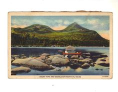 CPA - AMERIQUE DU NORD - ETATS UNIS - MAINE - ROCKY POND AND DOUBLETOP MOUNTAIN