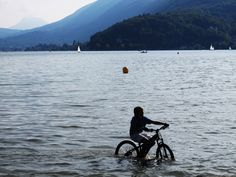 Lakeshore bordering Annecy, France