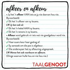 Afrikaans Language, Afrikaanse Quotes, Wedding Humor, Word Work, Kids Education, Back To School, School Stuff, Success Quotes, Spelling