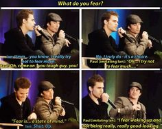 #TVD The Vampire Diaries  Paul Wesley(Stefan) & Ian Somerhalder(Damon), Paul really is a comedian..