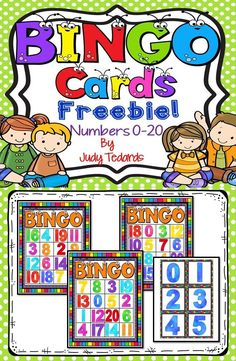 Kids love games and Bingo is a fun game that your young students will enjoy playing in small groups. Included in this resource are 10 Bingo Cards with numbers 0-20. Learning should be fun and these bingo cards are a fun way for students to learn basic skills like number recognition.
