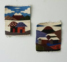 Peruvian Tapestry Mexican Wall Hanging by ShopMidCenturyModest