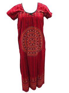 Women's Cotton Nighty Dress Hippie Gypsy Long Maxi Dress