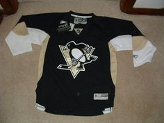 Pittsburgh Penguins Black Home Premier Hockey Jersey Youth s M or L XL | eBay