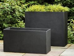 Fusion Tall Rectangular Planter contemporary-outdoor-pots-and-planters Rectangular Planters, Tall Planters, Modern Planters, Garden Planters, Tall Planter Boxes, Black Planters, Modern Vases, Modern Landscape Design, Landscape Plans