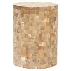 Reclaimed teak Beckham Stool  Perfect as a table, extra seating and adds a little pattern in natural colorway   From Dec-A-Porter event at Joss and Main!