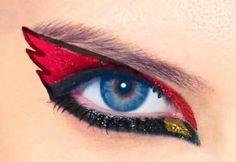 UofL Cardinal eye makeup!