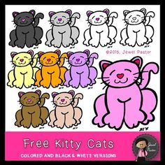 Free Kitty Cats (Cats Clip Art)Spruce up your resources and/or products with this cat clip art bundle.  This bundle contains all of the images as shown here. Each image is saved as a high resolution png file with transparent background. Included in the zip file is my TOU.*****************************************************************************Please see my other clip art and fonts:Saint Patrick's Day Kitty Cats (Saint Patrick's Day Clip Art)Saint Patrick's Day Clip Art BundleBuild Your ....