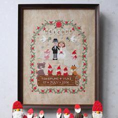 《刺繍》でつくったウェルカムボードのデザイン8選 | marry[マリー]