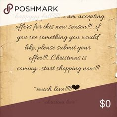 ❤️👑❤️ ~submit your offers!!!~ ❤️👑❤️ ❤️ ~submit your offers!!!...its Christmas time!!!...shop away!!!...willing to view all offers!!!...much love!!!~ ❤️ Other