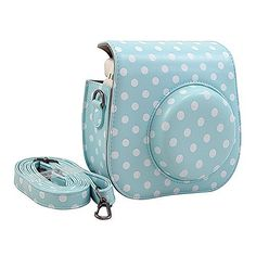 [Fujifilm Instax Mini 8 Case] - Katia PU Leather Instax Mini 8 Camera Case Bag With Camera Strap and Pocket (Blue Spot), http://www.amazon.co.uk/dp/B016I0JO1Q/ref=cm_sw_r_pi_awdl_TRm1wbCAT3K65 if not blue spot then any colour to match light blue camera